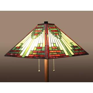 Zapanta 2-light Red Tiffany-style 25-inch Floor Lamp