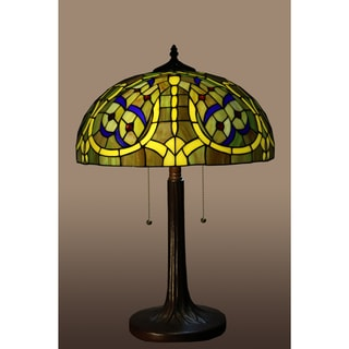 Molina 2-light Earthly Dragonfly 16-inch Tiffany-style Table Lamp