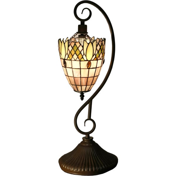 Shop Arizona 1 Light Pink 22 Inch Tiffany Style Table Lamp Free