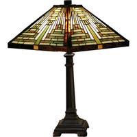 Luzon 1-light Multi-color 22-inch Tiffany-style Table Lamp
