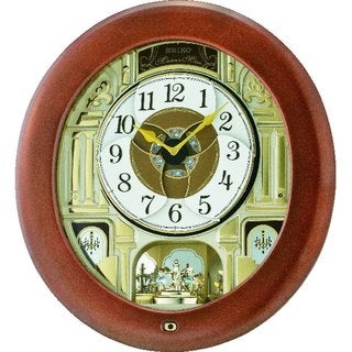 seiko qxm539brh melody in motion musical wall clock 18 hi
