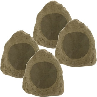 Theater Solutions 4R6S Outdoor Waterproof 6.5-inch 1600-watt Sandstone Rock Speakers (Set of 4)