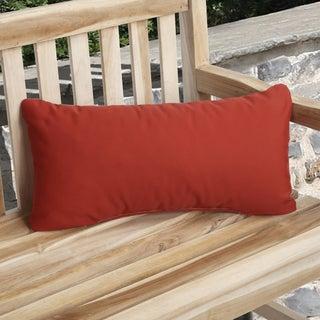 Red Indoor/ Outdoor 12x24-inch Throw Pillows (Set of 2)