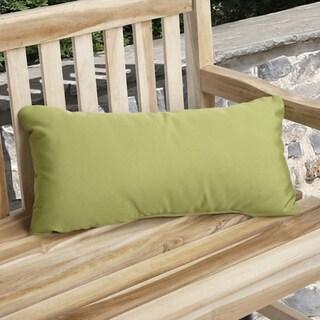 Citrus Green Indoor/ Outdoor 12x24-inch Throw Pillows (Set of 2)