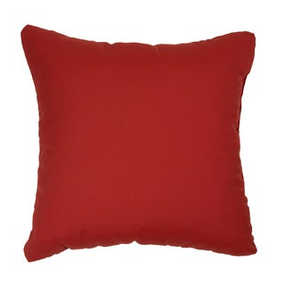 Red Indoor/ Outdoor Square Throw Pillows (Set of 2)