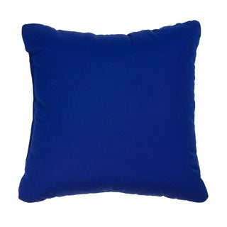 Cobalt Blue Indoor/ Outdoor Square Throw Pillows (Set of 2)