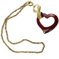 Dallas Prince Silver Red Agate & Marcasite Necklace