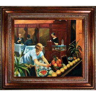 Edward Hopper 'Tables for Ladies, 1930' Hand Painted Framed Canvas Art