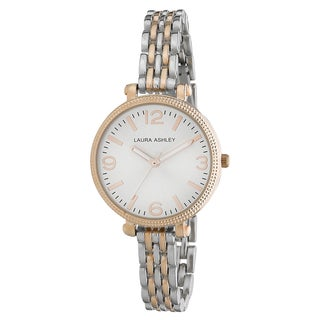 Laura Ashley Ladies Two-tone Link Bracelet Watch