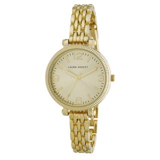 Laura Ashley Ladies Goldtone Link Bracelet Watch