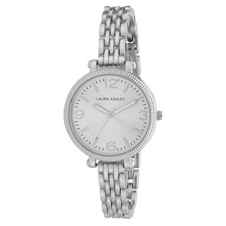 Laura Ashley Ladies Silvertone Link Bracelet Watch