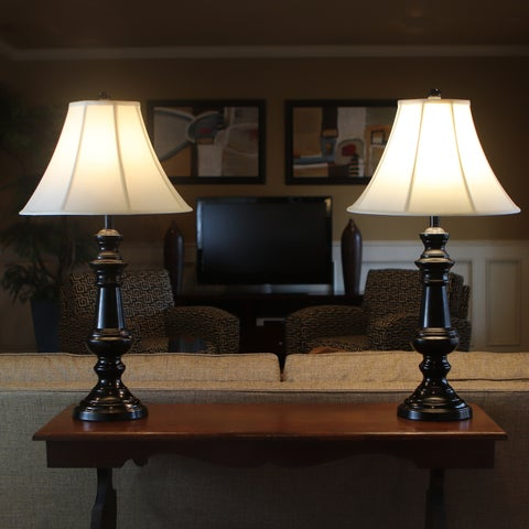 Decor Therapy Bronze Finish Touch Control Table Lamps (Set of 2)