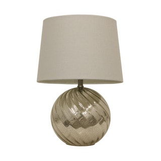 Silver Mercury Swirl Glass Table Lamp