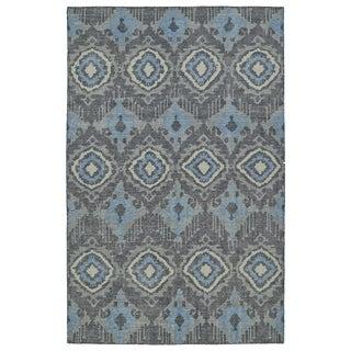 Hand-Knotted Vintage Charcoal Boho Rug (9'0 x 12'0)