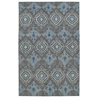 Hand-Knotted Vintage Charcoal Boho Rug (8'0 x 10'0)