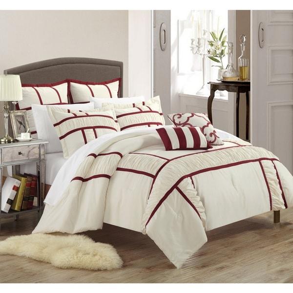 Chic Home Firenze Beige 7-piece Comforter Set
