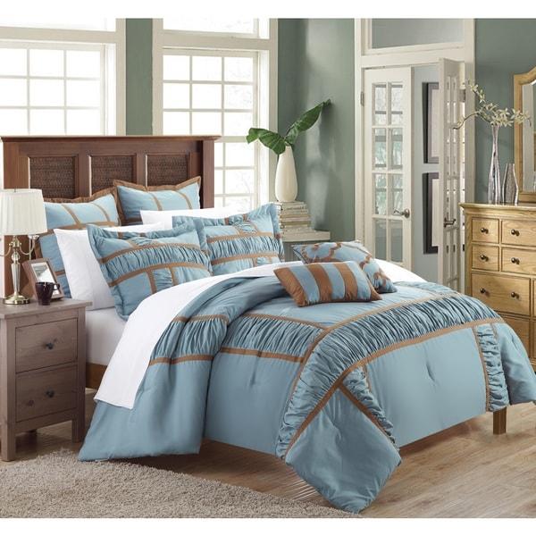 Chic Home Firenze Blue 7-piece Comforter Set
