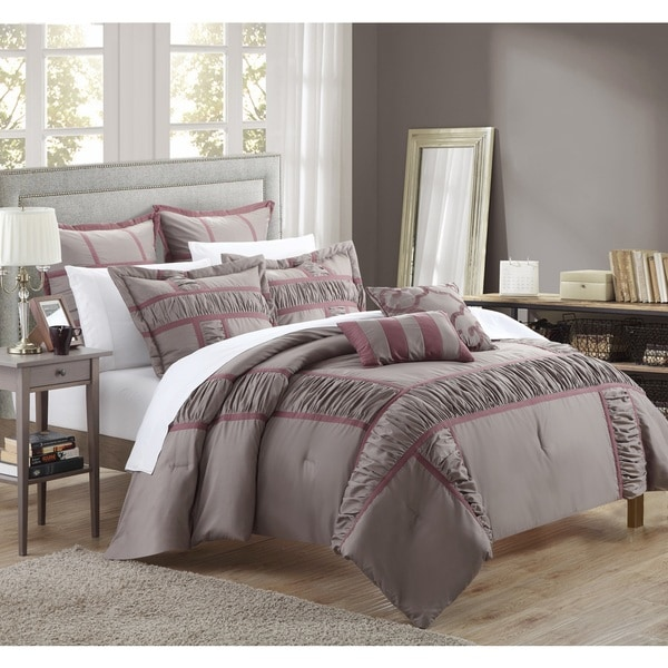 Chic Home Firenze Plum 7-piece Comforter Set