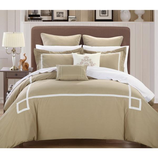 Chic Home Willard Taupe Embroidered 7-piece Comforter Set