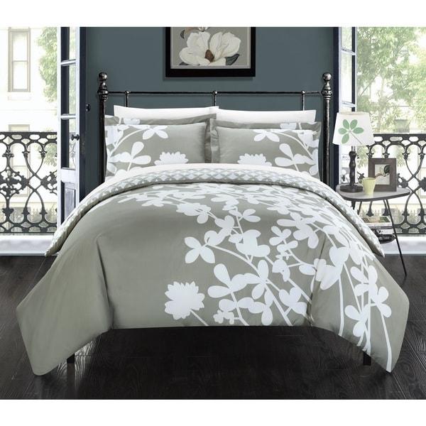 Chic Home Casa Blanca Grey Reversible 7-piece Duvet Cover Set