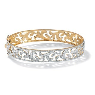 PalmBeach Diamond Accent Vine Bangle Bracelet