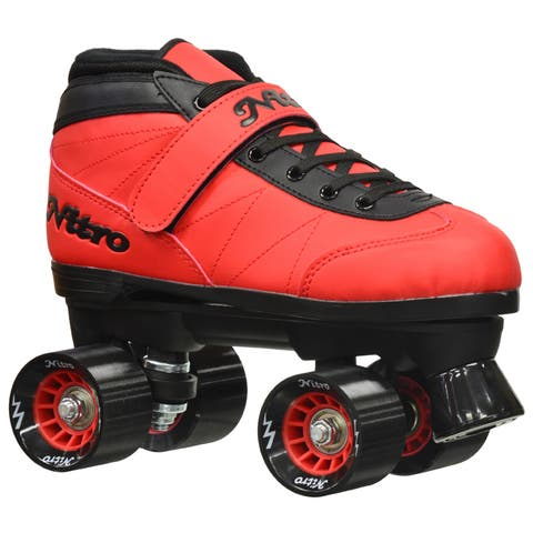 Epic Nitro Turbo Red Quad Speed Roller Skates