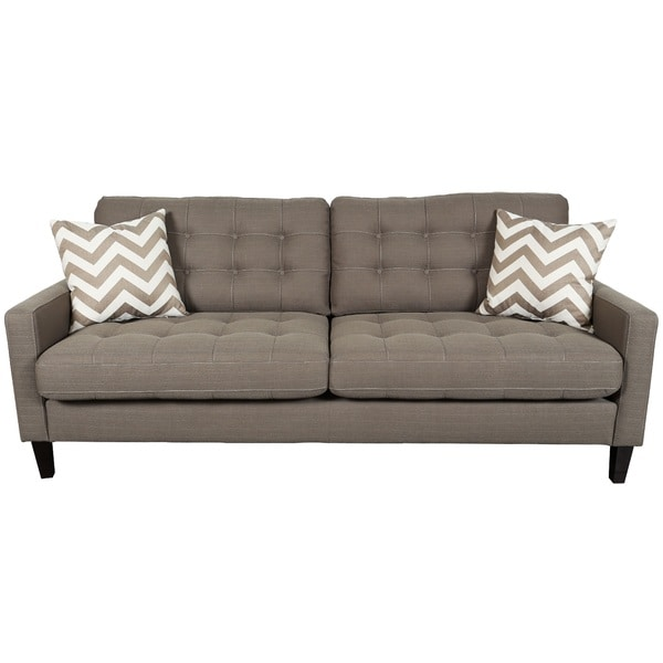 Throw Pillows For Taupe Sofa : Porter Hamilton Otter Taupe Sofa with Woven Chevron Accent Pillows - Free Shipping Today ...