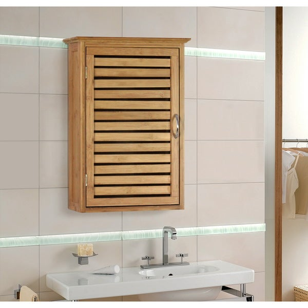 Bamboo Wall Cabinet Bathroom. Gallerie Decor Natural Spa Bamboo Wall Cabinet
