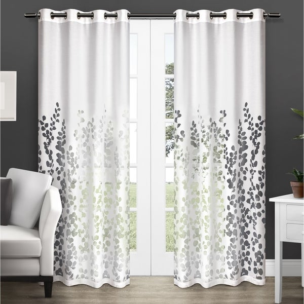 ATI Home Wilshire Burnout Grommet Top Curtain Panel Pair. Opens flyout.