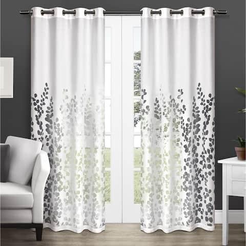 ATI Home Wilshire Burnout Grommet Top Curtain Panel Pair