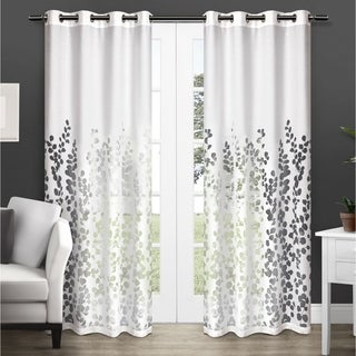 ATI Home Wilshire Burnout Sheer Grommet Top Curtain Panel Pair Part 66