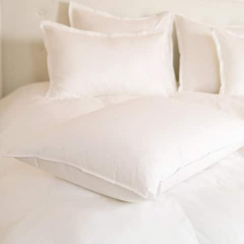 Luxury Resort Style 25/75 White Goose Down and Feather Blend Pillow