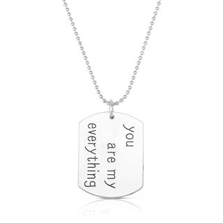 Collette Z Dog Tag Fashion Necklace