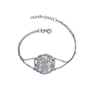 Collette Z Sterling Silver Classic Filigree Bracelet