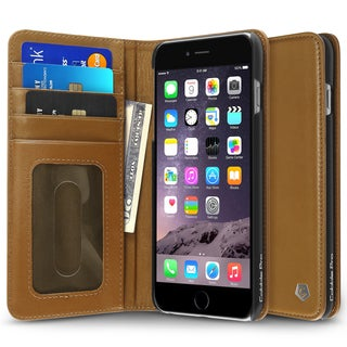 Cobble Pro Brown Genuine Leather Case Cover with Stand/ Card Slot/ Photo Display For Apple iPhone 6 Plus/ 6s Plus