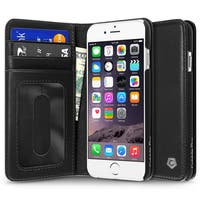 Cobble Pro CobblePro Black Genuine Leather Case with Stand/ Card Slot/ Photo Display for Apple iPhone 6/ 6s