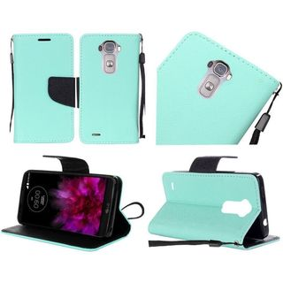 Insten Leather Case Cover Lanyard with Stand For LG G Flex 2
