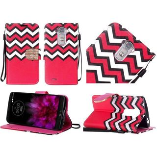Insten Chevron Leather Case Cover Lanyard with Stand/Diamond For LG G Flex 2