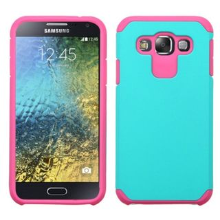 Insten Hard PC/ Silicone Dual Layer Hybrid Rubberized Matte Case Cover For Samsung Galaxy E5