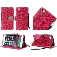 Insten Leather Case Cover Lanyard with Stand/Diamond For Apple iPhone 6 Plus/6s Plus