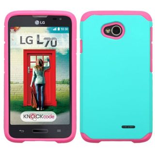 Insten Hard PC/ Silicone Dual Layer Hybrid Case Cover For LG Optimus Exceed 2 VS450PP Verizon/ Optimus L70/ Realm
