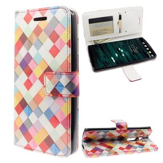 Insten Colorful Argyle Leather Case Cover with Stand/Wallet Flap Pouch For LG V10