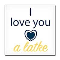 Ready2HangArt 'I Love you a Latke II' Hanukkah Canvas Wall Art