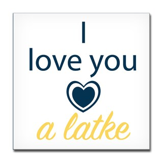 Ready2HangArt 'I Love you a Latke II' Hanukkah Canvas Wall Art