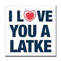 Ready2HangArt 'I Love you a Latke' Hanukkah Canvas Wall Art