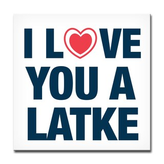 Ready2HangArt 'I Love you a Latke' Hanukkah Canvas Wall Art