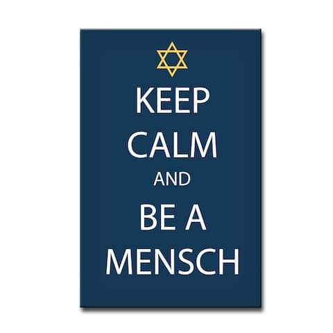 Ready2HangArt 'Keep Calm & be a Mensch' Hanukkah Canvas Wall Art