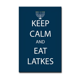 Ready2HangArt 'Keep Calm & Eat Latkes' Hanukkah Canvas Wall Art