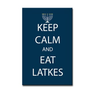 Ready2HangArt 'Keep Calm & Eat Latkes' Hanukkah Canvas Wall Art