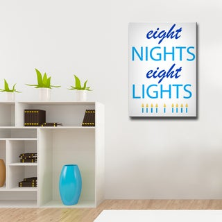 Ready2HangArt 'Eight Nights, Eight Lights' Hanukkah Canvas Wall Art